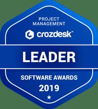 Crozdesk Project Management Software Awards Leader 2019