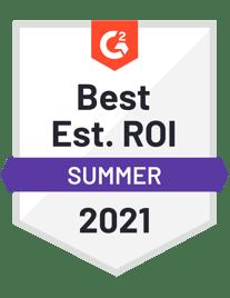 best estimated ROI