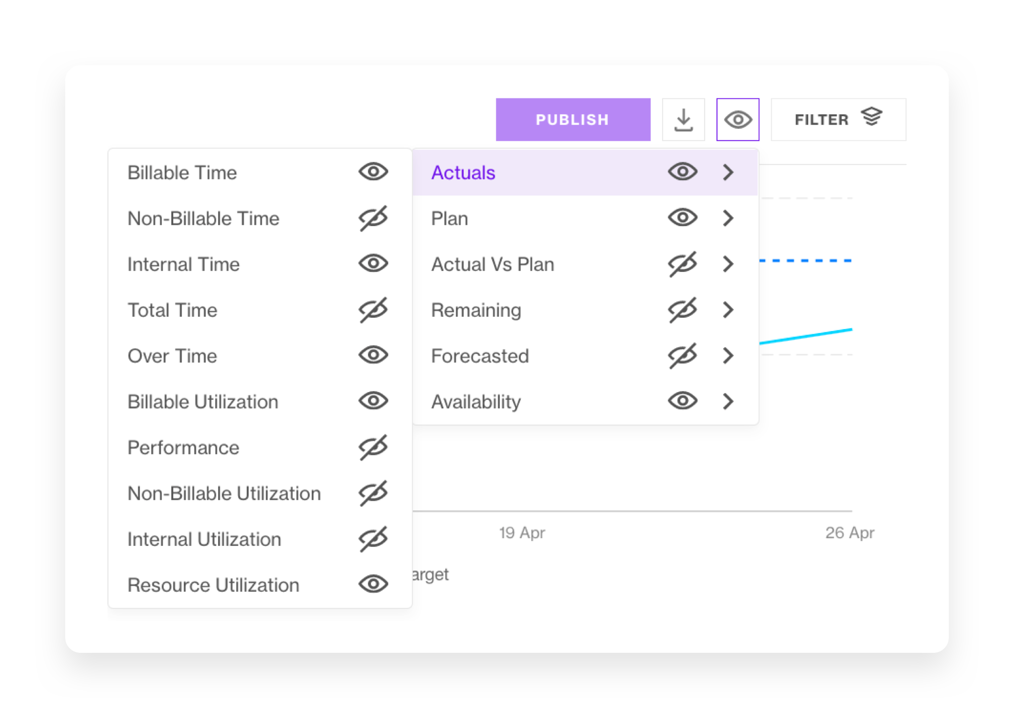 utilization filters and views