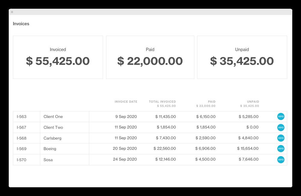 Invoices Xero