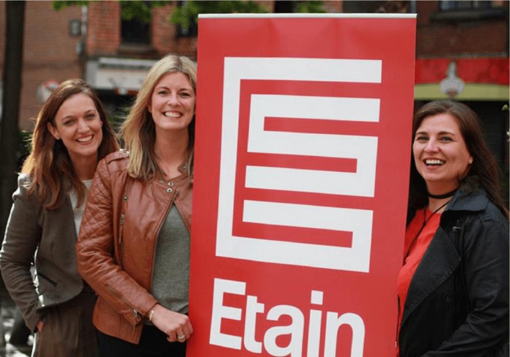Etain team with the Etain logo